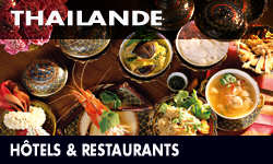 Restaurants et hotels en Thailande