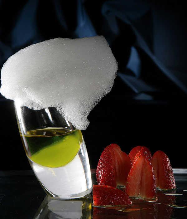 Fraises à l'huile d'olive et shampoing citrons.