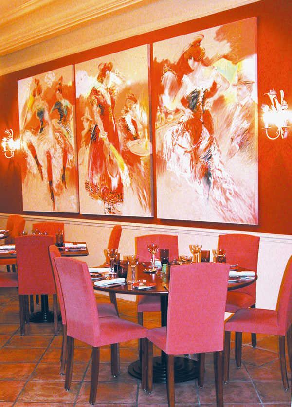 La salle du restaurant la Bohême