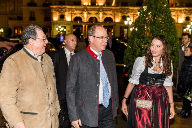 Accueil du Prince Albert II par Tonio & Rebecca Arcaini et Stefano Brancato au Café de Paris Monte Carlo