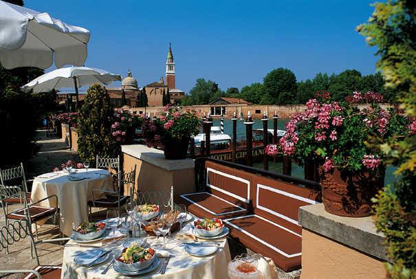 Terrasse du Cipriani à Venise