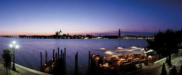 Vue panoramique du Cipriani a Venise